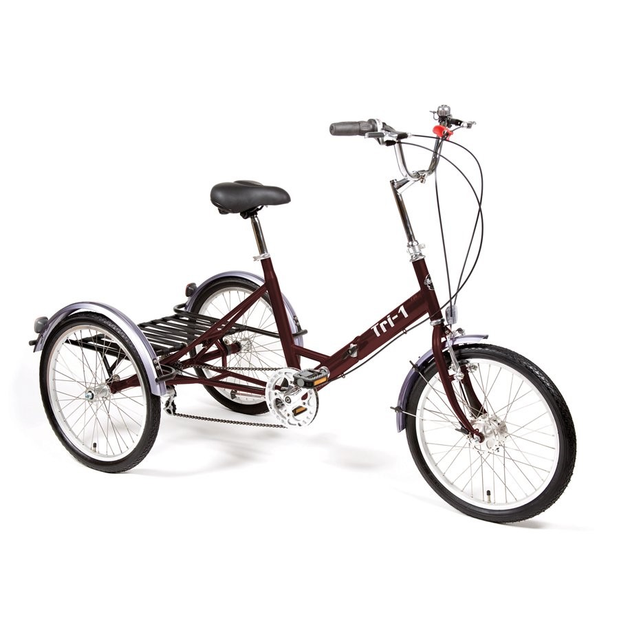 Pashley Tri - 1 folding trike (RRP £845) with lights, lock and helmet (RRP £245)