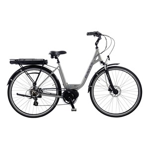 Dawes Central e-bike with helmet and lights